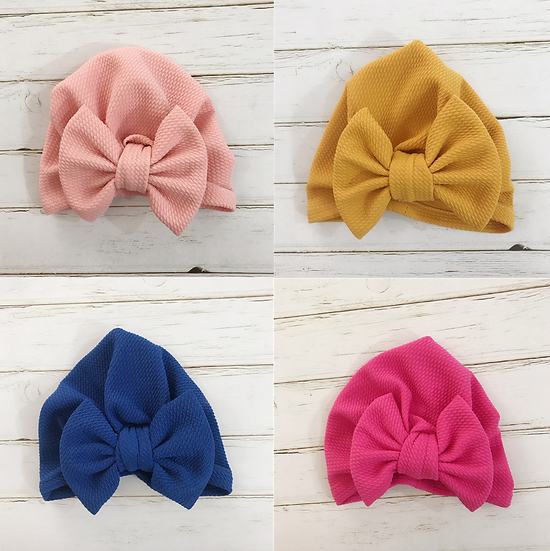 Textured Bow Hat