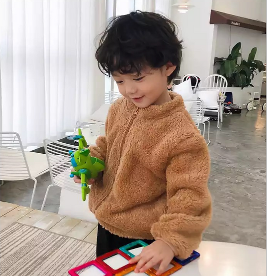 Coffee Fluffy Teddy Coat