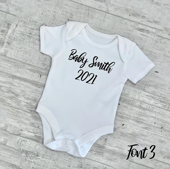 Baby Announcement Vest