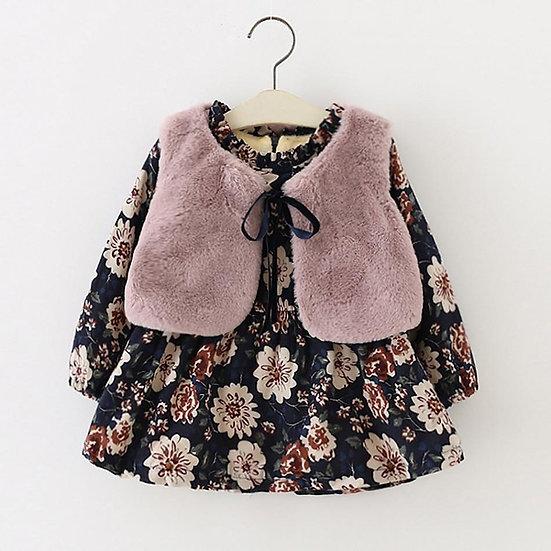Floral Dress & Gilet Set