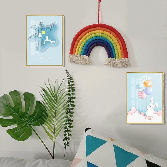 Woven Hanging Wall Rainbow