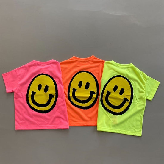 Neon Smiley Face T-Shirt