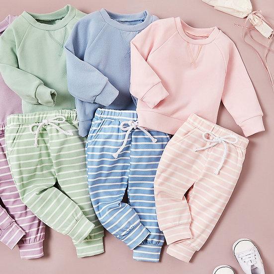 Pastel Stripe Soft Lounge Suit