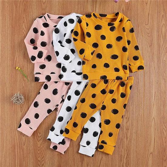 Spotty Ribbed Loungewear Set