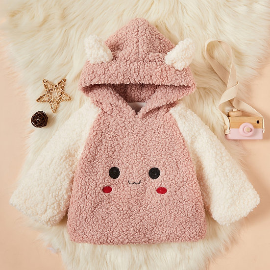 Pink Face Fluffy Ear Hoodie