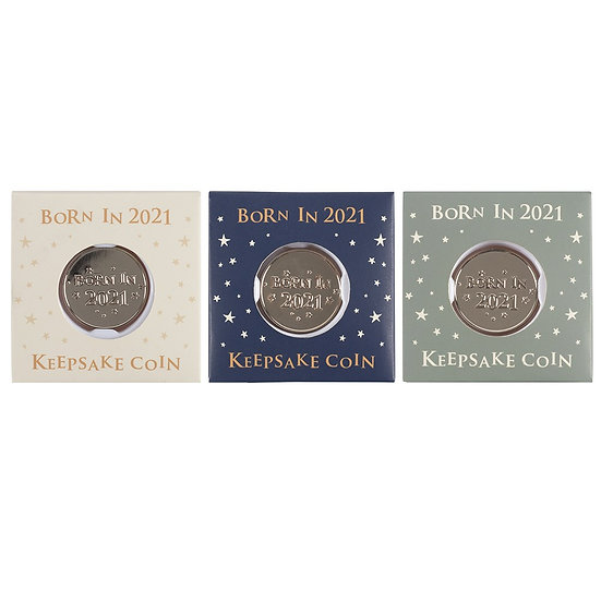 Born In 2021 Keepsake Coin