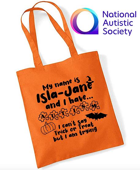 Halloween Autism Tote Bag