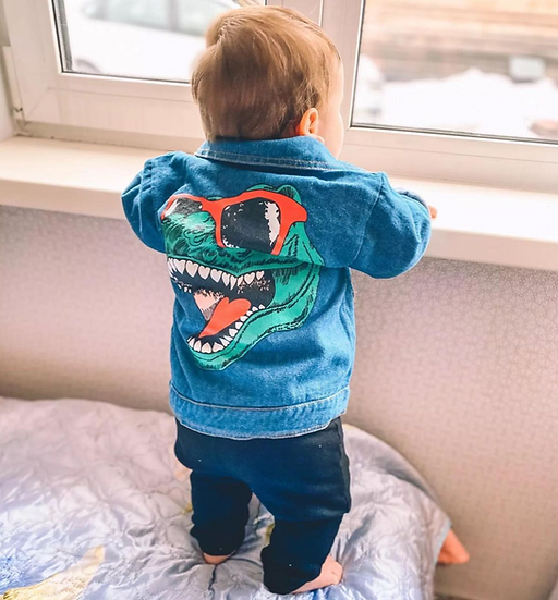 Dinosaur Denim Jacket