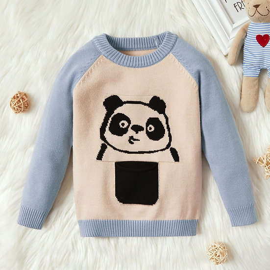Panda Knitted Jumper