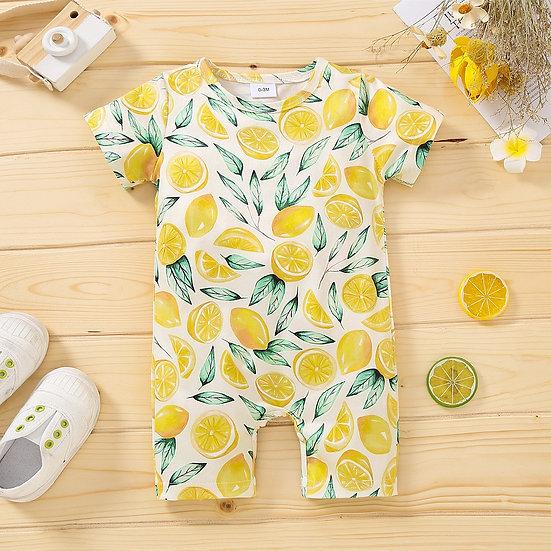 Lemon Print Summer Romper