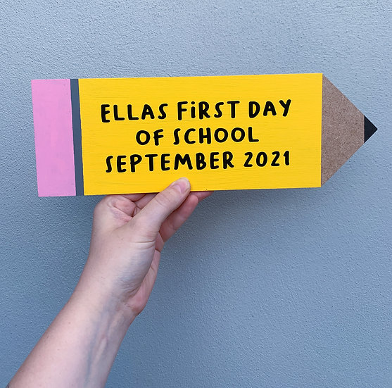 First Day of School Pencil Wooden Plaque