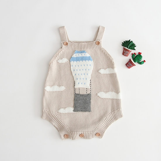 Hot Air Balloon Knitted Romper