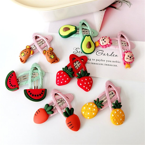 Fruity Hair Clips 14 Pack