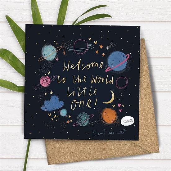 Magic Bean New Baby Card