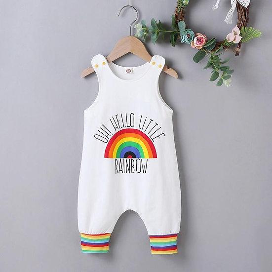 Hello Little Rainbow Romper