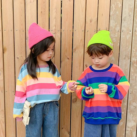 Rainbow Stripe Sweatshirt