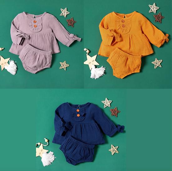Linen Style Top + Shorts Set