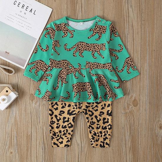 Leopard Print Faux Jumpsuit