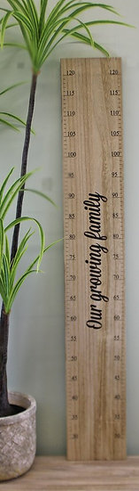 Wooden Height Chart