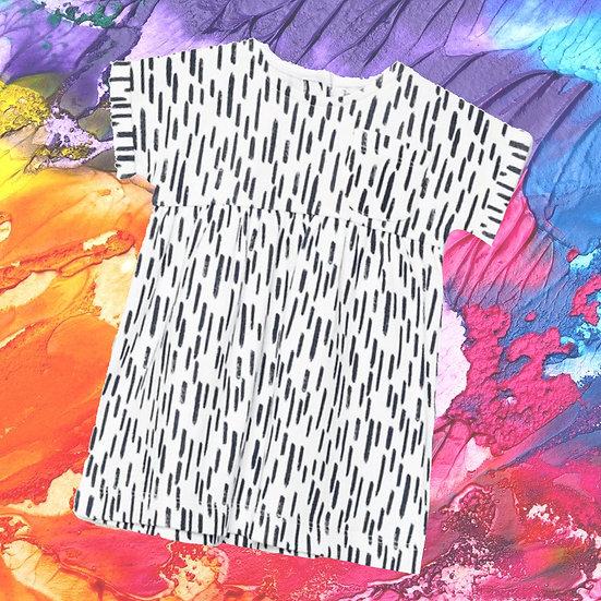 Mono Print T-Shirt Dress