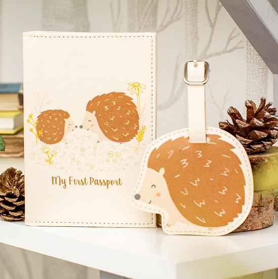 My First Passport Hedgehog Gift Set