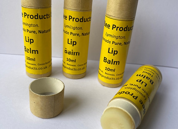 Natural Lip Balm. 10ml Recyclable Tubes