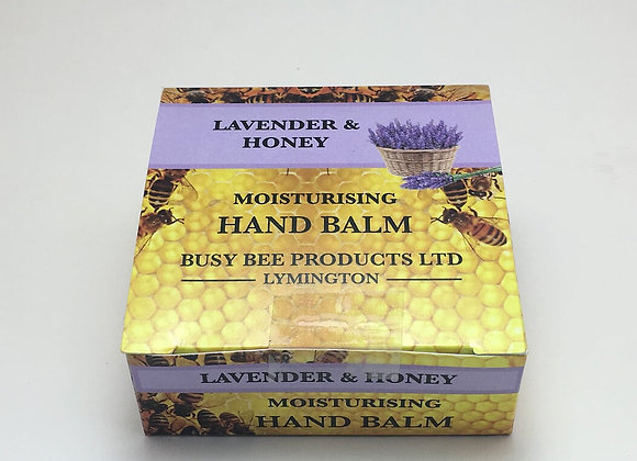 Moisturising Lavender and Honey Hand Balm 30ml tin or 60ml in a box.