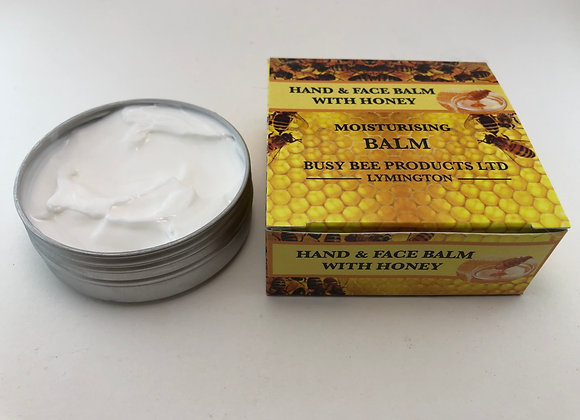 Moisturising Hand and Face Balm 30ml tin or 60ml in boxes..