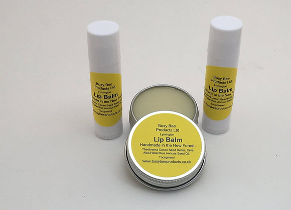 Natural Lip Balm. 5ml Tubes and 13ml Tins