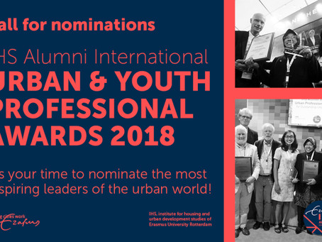 IHS AI Urban Professional and Youth Awards: call for nominations