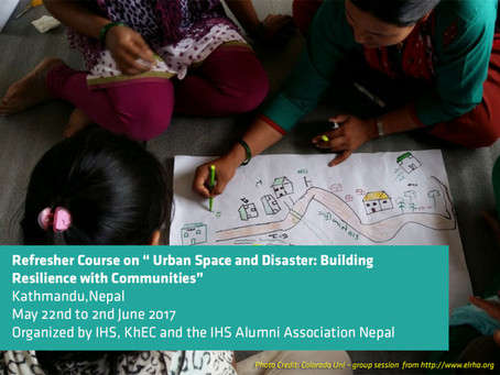 """""""Urban Space and Disaster: Building Resilience with Communities"""""""