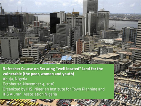 """Securing well located land for the vulnerable: the poor, women and youth"" Refresher Course, Nigeria"