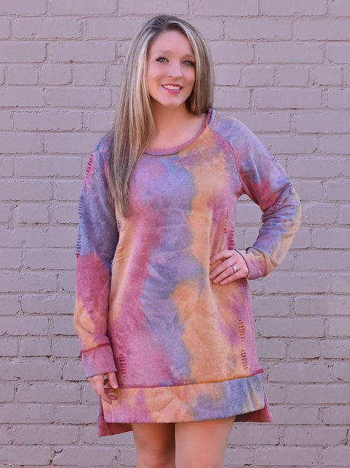Paint Me Happy Dress/Tunic (Umgee Brand)