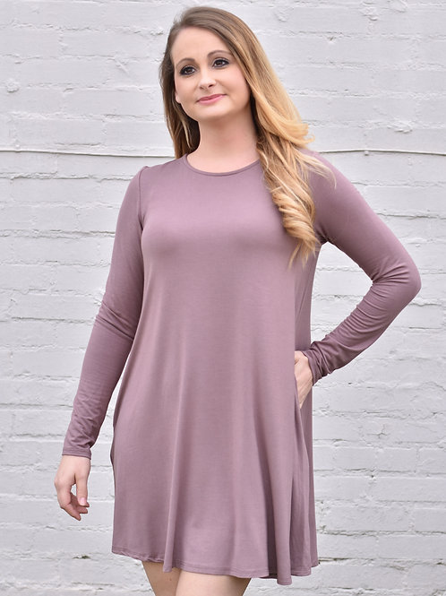 Confidence Is Beautiful Dress/ Faded Plum ( Mittoshop Brand)