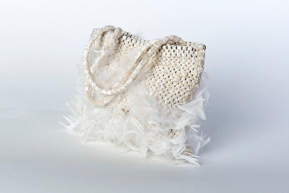 Handtasche mit Federn
