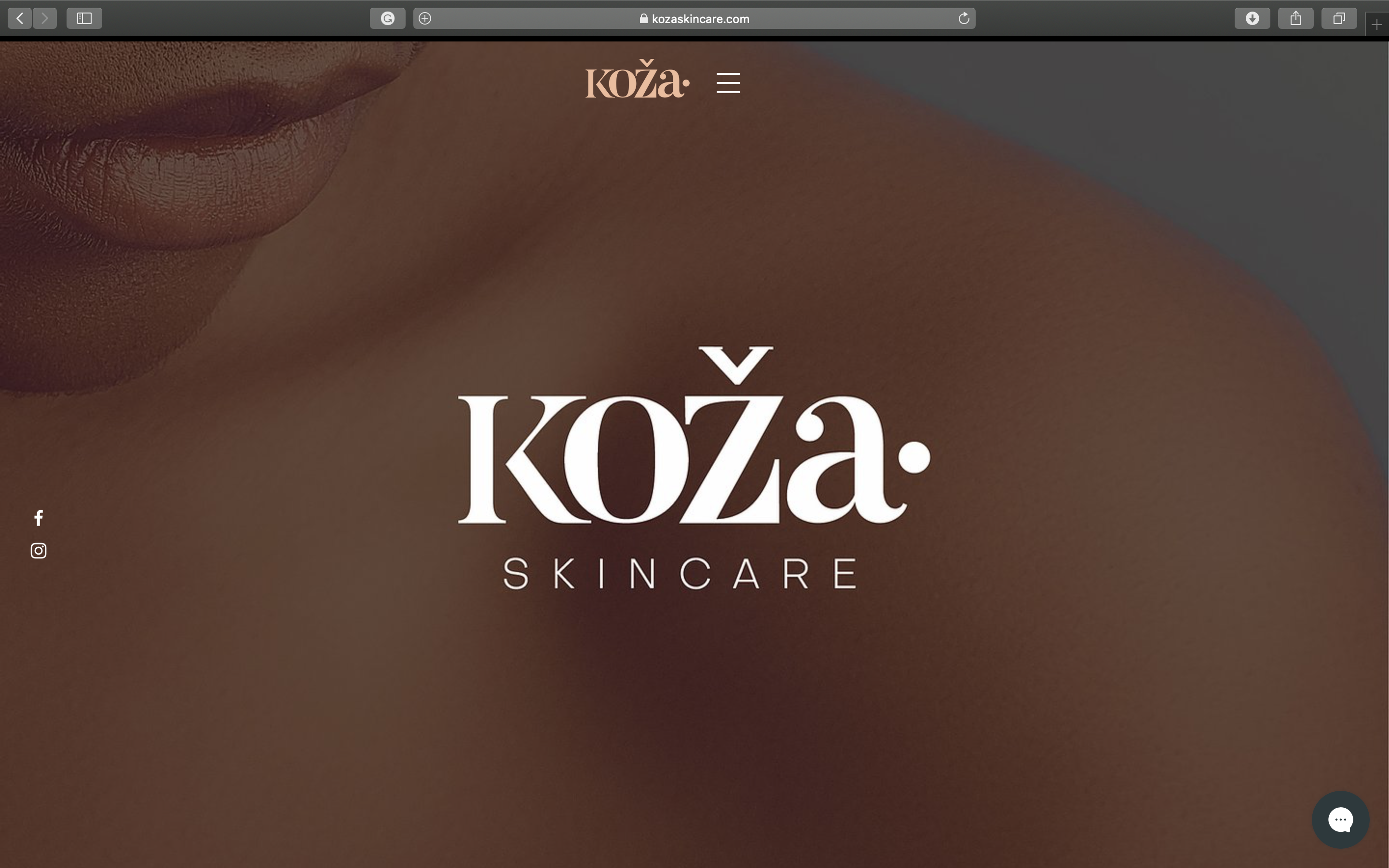 Website Design (Koza Skincare)