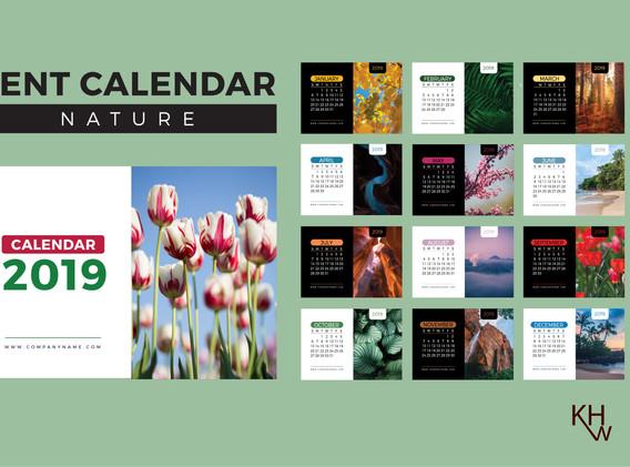 12-Page Calendar Design (Nature)