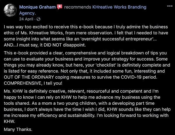 Review - Monique Graham