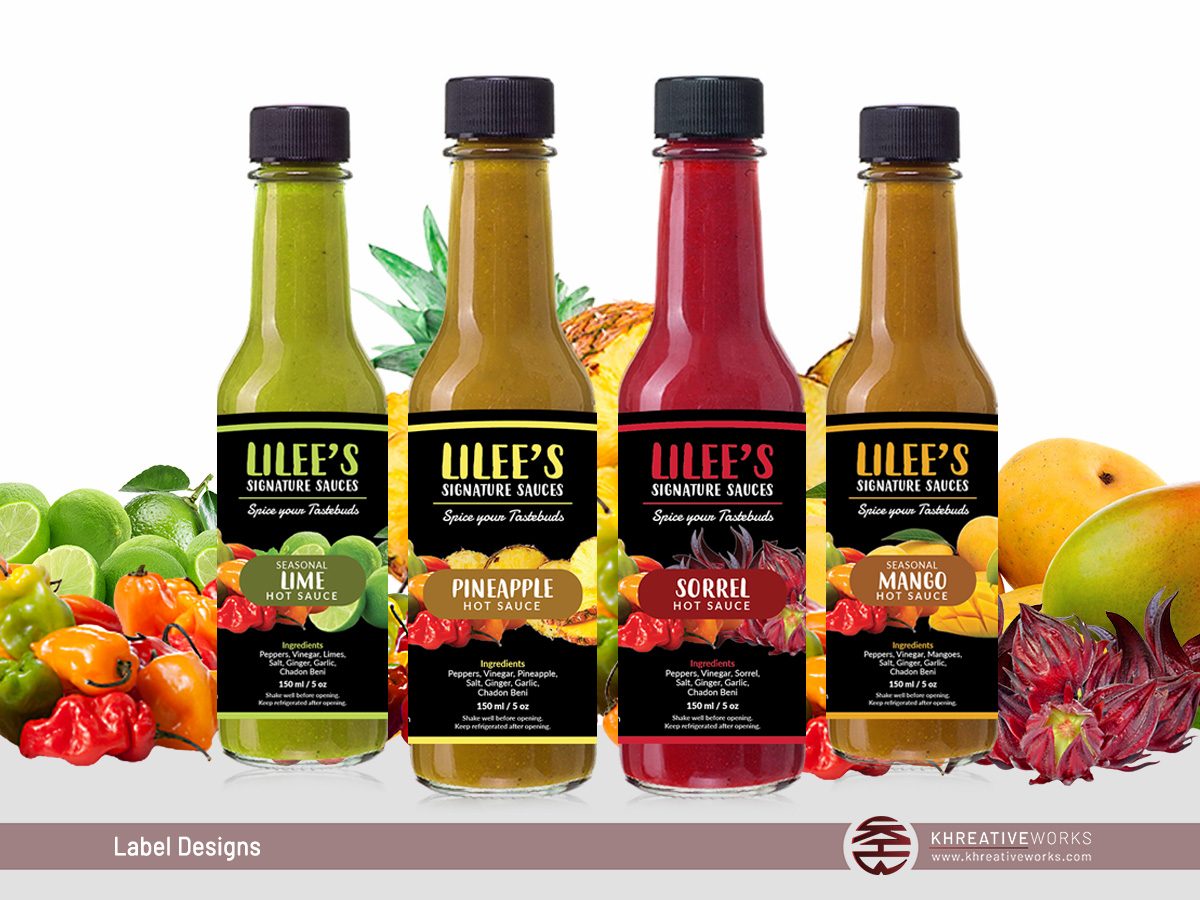 Labels - Lilee's Signature Sauces