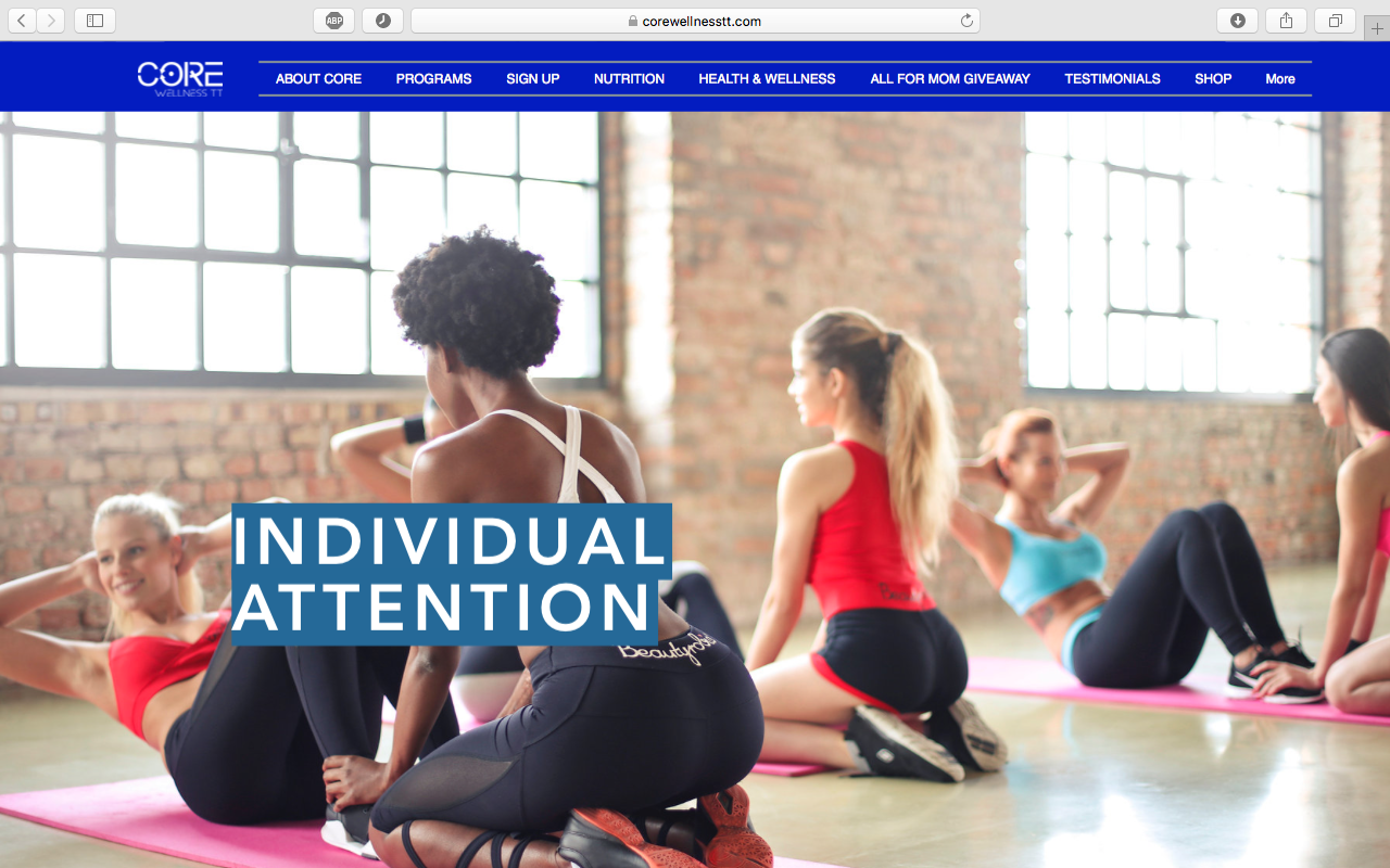 CORE Wellness TT Website Design