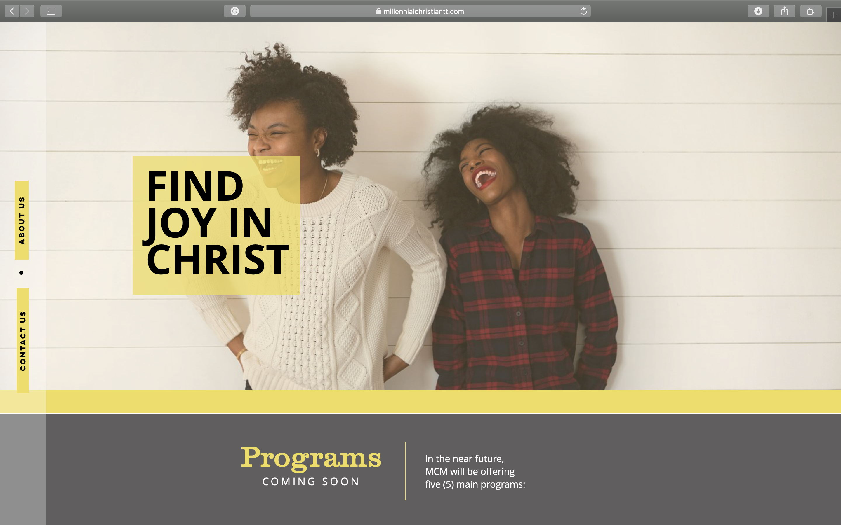 Website Design (Millennial Christian Min