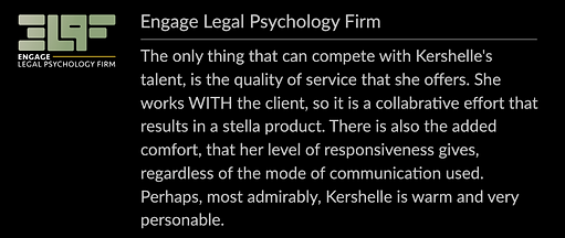 Review - Engage Legal Psychology