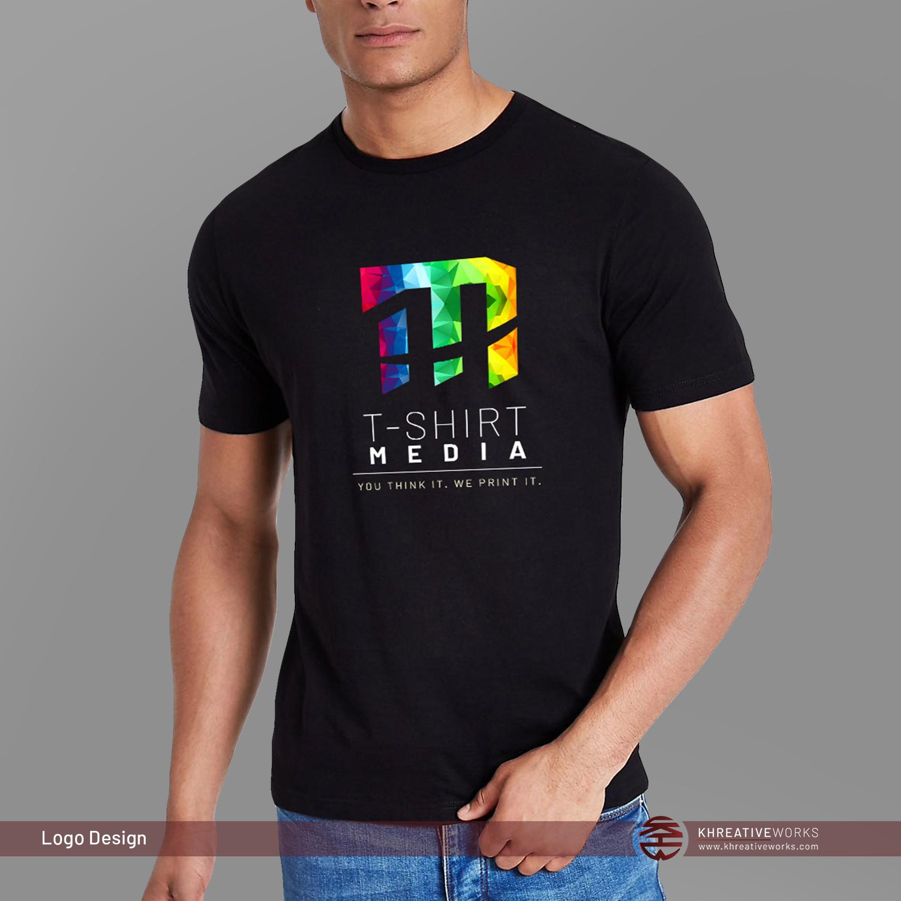 T-Shirt Media Logo Design