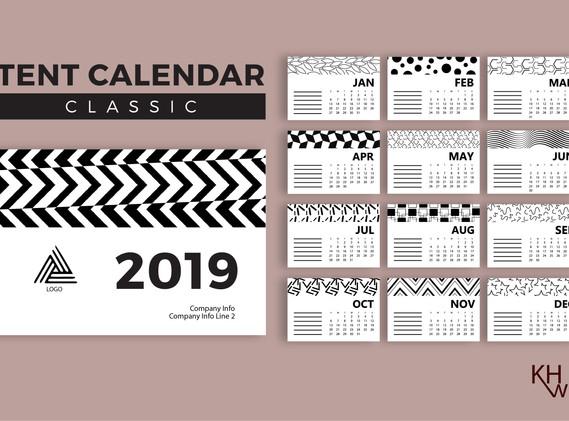 12-Page Calendar Design (Classic)