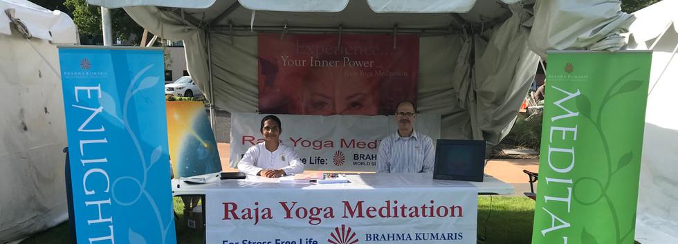 Raja Yoga Meditation Stall