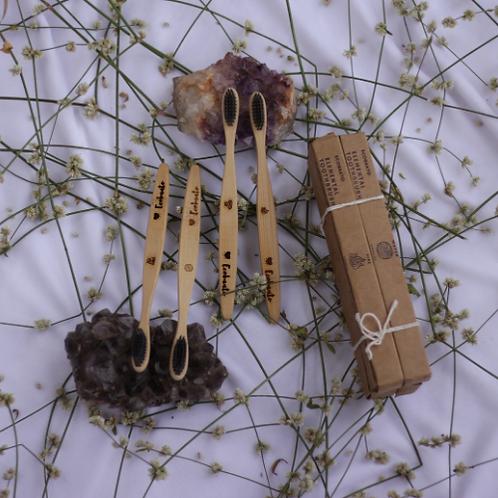 Ecobaato Elemental Toothbrushes - set of 4