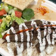 Lamb/Beef Gyro Plate (Gyro over Rice)