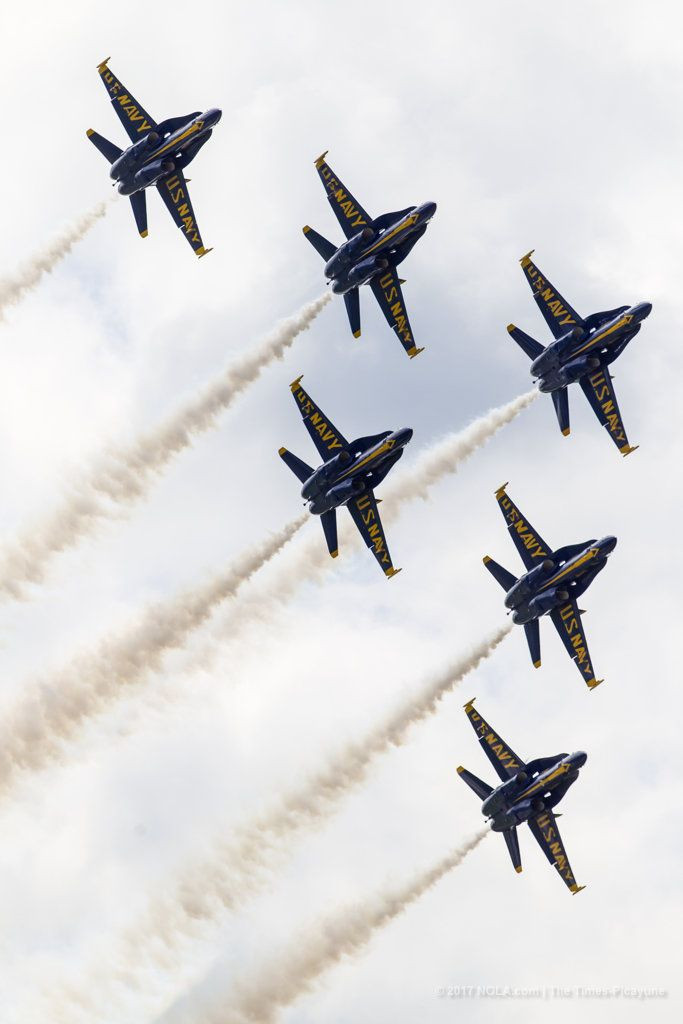 The Blue Angels fly in formation at the 2017 New Orleans Air Show on Sunday, April 23, 2017. (Photo by Chris Granger, NOLA.com | The Times-Picayune)