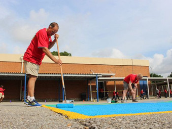 Eisenhower Academy gets a facelift with help of local paint store