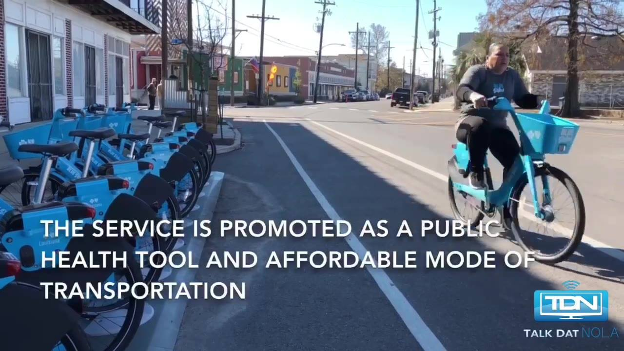You've likely seen the new brightly colored blue bikes popping up around town. Here's a look at how it works and details about how you can enter to win a free ride all year long. Blue Bikes New Orleans Blue Cross and Blue Shield Of Louisiana  This vi